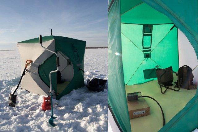 Палатки для зимней рыбалки: разновидности и особенности выбора